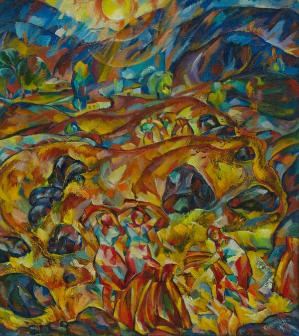 Эрвин Гофман. Горный хлеб. 1976, Масло, холст. 9585. Частная коллекция Ю.Вербицкой
