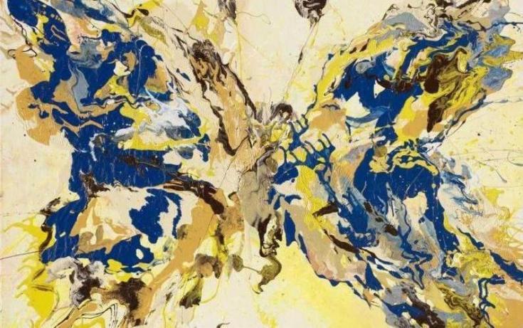11.Yelloy Wings.Emotion Splash.alcid enamel.canvas.100-140sm.2015